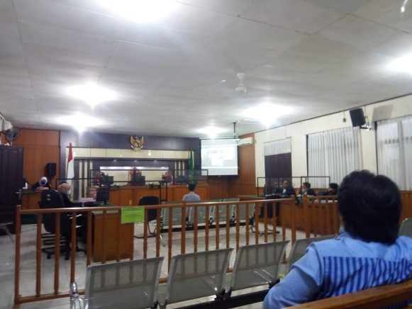 Suasana sidang kasus penggelapan di Bank BJB.